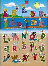 Fototapete Alphabet der Tiere 254 cm x 183 cm