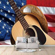 Fototapete Amerikanische Flagge des Gitarrenhutes