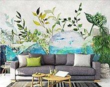 Fototapete Aquarell Blumenblätter 150x105cm S