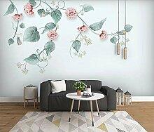 Fototapete Aquarell Botanische Blume 300x210cm XL