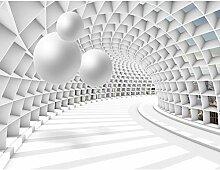 Fototapete Architektur 3D - Kugel Weiß Vlies Wand