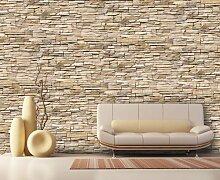 Fototapete Asia Stone Natur KT239 Größe: 400x280cm Tapete Stein Naturstein Grau