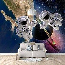 Fototapete Astronaut auf dem Planeten Mauer Fresco