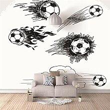 Fototapete Aufkleber Fußball 3D Vlies Wandbild