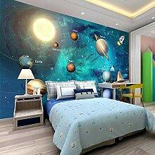 Fototapete Aufkleber Kosmisches Kinderzimmer 3D
