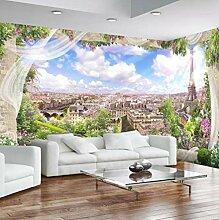 Fototapete Aufkleber Romantisches Paris 3D Vlies