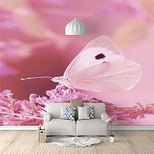 Fototapete Aufkleber Rosa Schmetterling 3D Vlies
