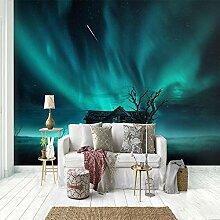 Fototapete Aurora Sternenhimmel Blick Wohnzimmer