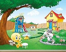 Fototapete Baby Looney Tunes im Garten B x H: 350cm x 270cm von Klebefieber®