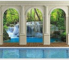 Fototapete Bach Wasserfall 3D Wandbilder Für
