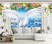 Fototapete Backsteinmauer Fenster 250x175cm L
