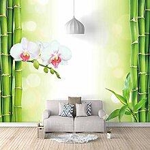 Fototapete Bambus, Blume Moderne Wandbild Tapete