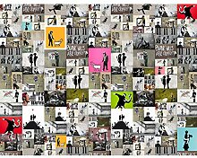 Fototapete Banksy Collage 396 x 280 cm Vlies Wand