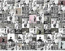 Fototapete Banksy Collage Vlies Wand Tapete
