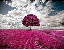 Fototapete Baum Violett 396 x 280 cm Vlies Wand