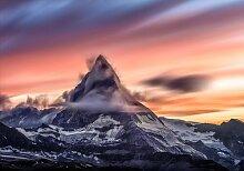 Fototapete Berge Himmel Papier 2.54 m x 368 cm