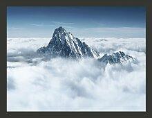 Fototapete Bergspitze in den Wolken 154 cm x 200