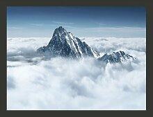 Fototapete Bergspitze in den Wolken 270 cm x 350