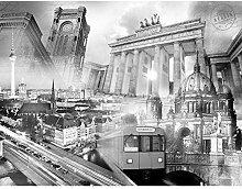 Fototapete Berlin 396 x 280 cm - Vlies Wand Tapete
