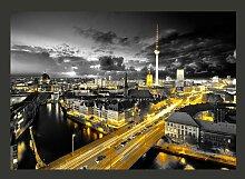 Fototapete Berlin bei Nacht 210 cm x 300 cm