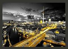 Fototapete Berlin bei Nacht 245 cm x 350 cm