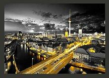 Fototapete Berlin bei Nacht 280 cm x 400 cm East