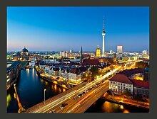 Fototapete Berlin view from Fischerinsel (night)