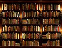 Fototapete Bibliothek Vlies Wand Tapete Wohnzimmer