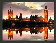 Fototapete Big Ben am Abend: London 309 cm x 400