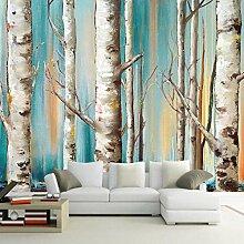 Fototapete Birkenwald Moderne Wandbild Tapete 3D