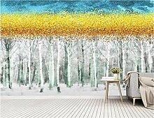 Fototapete Birkenwald Waldbaum Wand Tapete