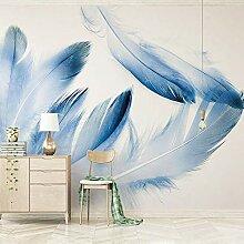 Fototapete Blaue Feder 3D Wandbilder Für