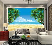 Fototapete Blauer Himmel-Strand CocoNon-Woven