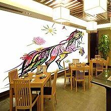 Fototapete Blüht Pferd Moderne Wandbild Tapete 3D