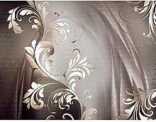 Fototapete Blumen Abstrakt Vintage Braun Grau