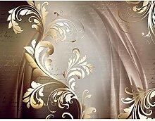 Fototapete Blumen Abstrakt Vintage Braun Vlies