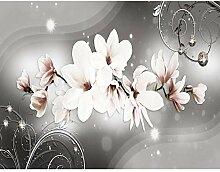 Fototapete Blumen Magnolien 528 x 280 cm - Vlies