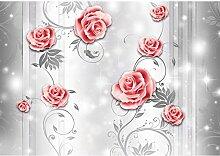 Fototapete Blumen Rosen - Vlies Wand Tapete