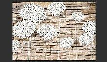 Fototapete Blumen & Stein 210 cm x 300 cm East