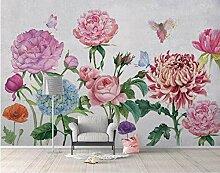 Fototapete Blumen Und Schmetterlinge Tapete