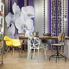Fototapete Blumenmuster mit Orchidee 3,12 m x 219