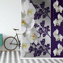 Fototapete Blumenmuster mit Orchidee in Lila 2,06