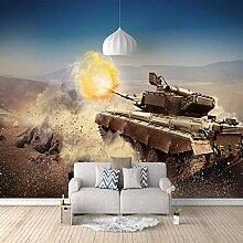 Fototapete Bombardierter Panzer Mauer Fresco Foto