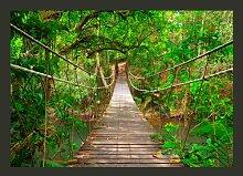 Fototapete Brücke im Grünen 245 cm x 350 cm