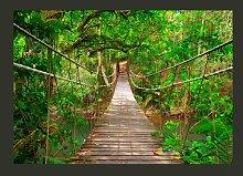 Fototapete Brücke im Grünen 280 cm x 400 cm
