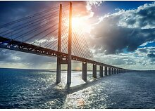 Fototapete Brücke Wasser Papier 2.8 m x 368 cm