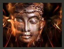 Fototapete Buddha. Fire of meditation. 309 cm x