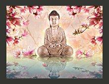 Fototapete Buddha und Magnolia 154 cm x 200 cm