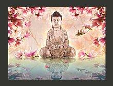 Fototapete Buddha und Magnolia 193 cm x 250 cm