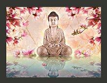 Fototapete Buddha und Magnolia 231 cm x 300 cm